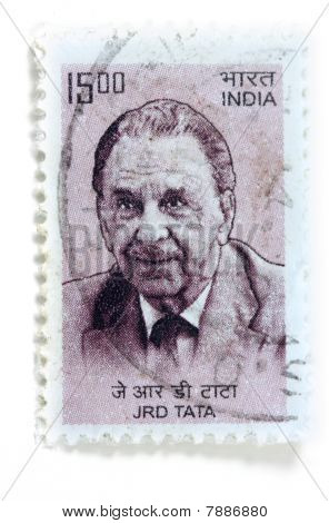 Stamp of J R D TATA