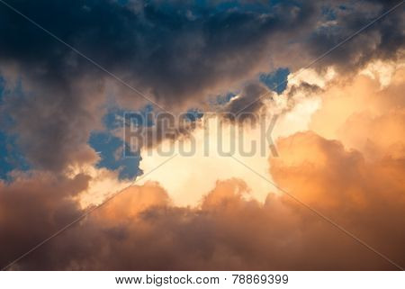 Dramatic storm cloud background
