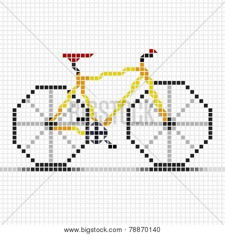 Mosaic Illustration Of Bicycle