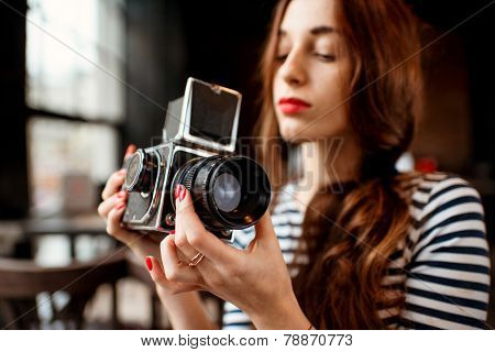 Photographer working