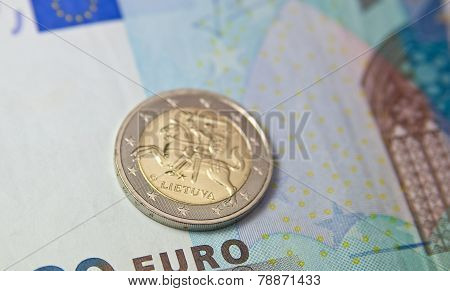 Euro Coin Of Lithuania