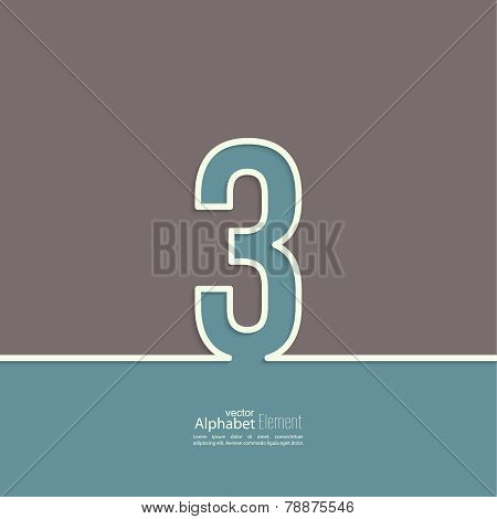 The number. abstract background.