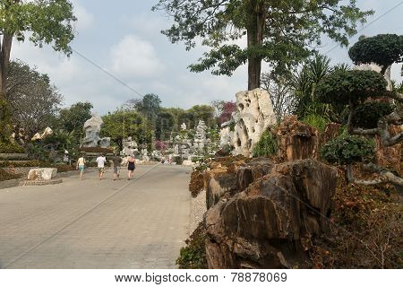 Pattaya, Thailand - 17 January, 2012: Years Stone Park