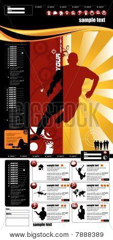 Website sport layout