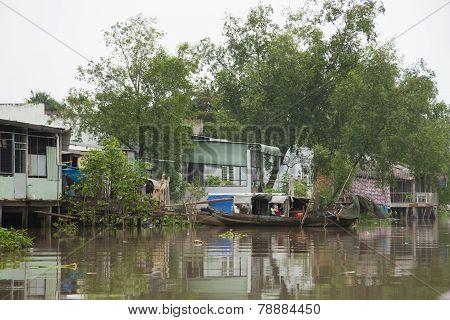 Village at Mekong River, Vietnam