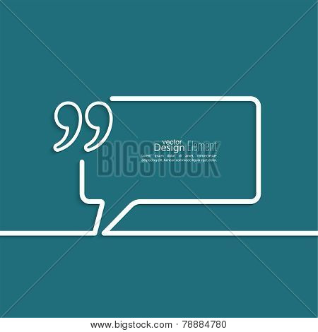Quotation Mark Speech Bubble