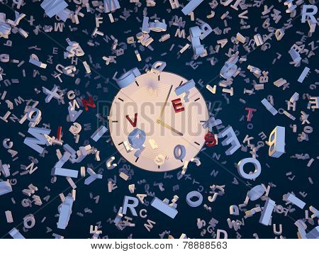 Clock And Fallin Letters