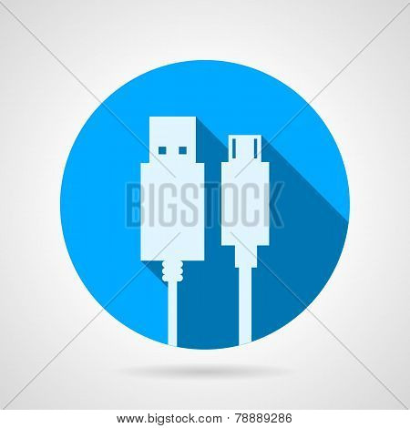 Flat vector icon for USB cable