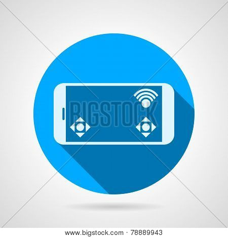 Phone game display flat vector icon