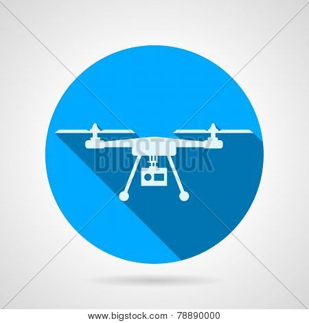 Quadrocopter sign flat vector icon
