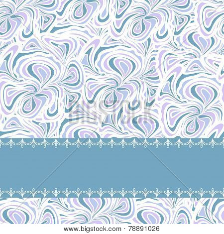 Light blue pattern with stripe