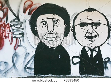 Art Street drawn on the wall In Praga