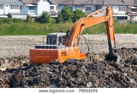 Tractor Shovel Working In Progress.