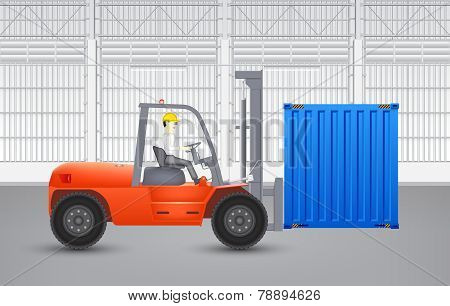 Forklift_and_container
