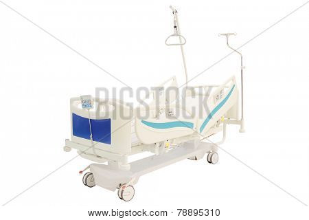 mobile medical bed isolated under the white background