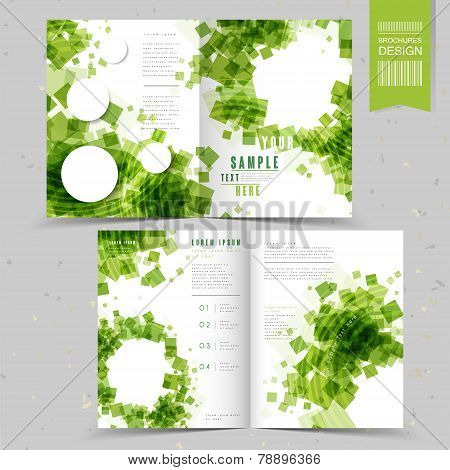 Abstract Half-fold Template Design