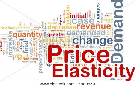 Price Elasticity Background Concept
