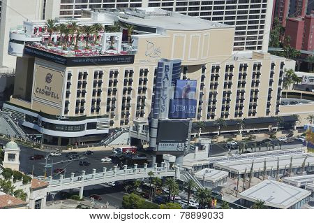 Aerial view Drai's Beach Club at The Cromwell Boutique Hotel and Casino in Las Vegas