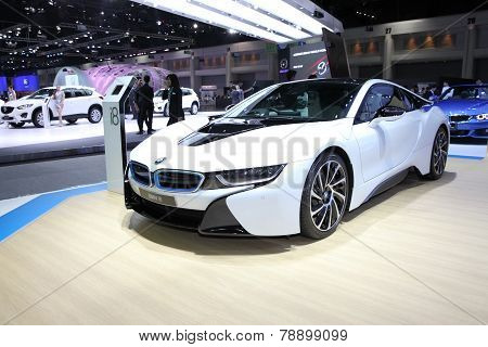 Bangkok - November 28:  Bmw I8  Car On Display At The Motor Expo 2014 On November 28, 2014 In Bangko