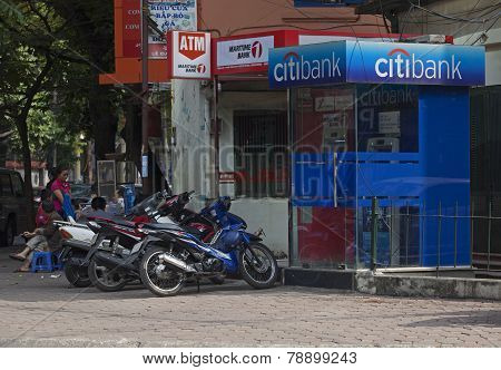 An automatic teller machine (ATM) of Citibank in Hanoi, Vietnam