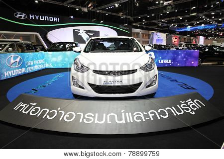 Bangkok - November 28: Hyundai Elantra Sport 1.8 Gle Car On Display At The Motor Expo 2014 On Novemb