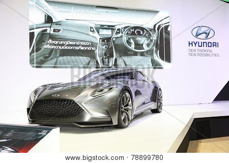 Bangkok - November 28: Hyundai Hnd-9 Car On Display At The Motor Expo 2014 On November 28, 2014 In B
