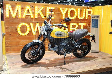 Bangkok - November 28: Ducati Scrambler Motorcycle On Display At The Motor Expo 2014 On November 28,