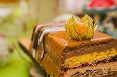 picture of vegan  - Sweet buffet delicious homemade vegan cake - JPG