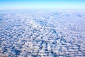 foto of stratus  - view colored clouds from an airplane at dawn - JPG