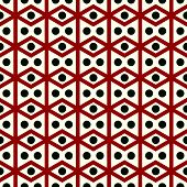 picture of parallelogram  - Red rhombohedron or parallelogram pattern on pastel background - JPG