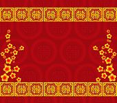 stock photo of eastern culture  - Chinese New Year greeting card background for design - JPG
