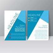 image of booklet design  - Vector brochure template design with triangles - JPG