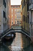 image of academia  - Sunrise in Venice at canal near Academia bridge - JPG