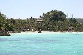 stock photo of boracay  - scenic views of the coastline of Boracay Island Philippines Southeast Asia - JPG