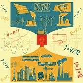 picture of hydroelectric power  - Power energy industry infographic - JPG