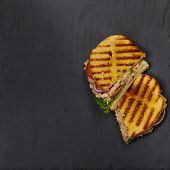 foto of lent  - Homemade Grilled Tuna Panini Sandwich - JPG