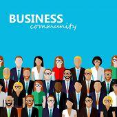 image of wearing dress  - vector flat  illustration of business or politics community - JPG