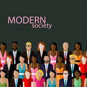 stock photo of wearing dress  - vector flat  illustration of business or politics community - JPG