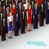 foto of wearing dress  - vector 3d isometric  illustration of business or politics community - JPG