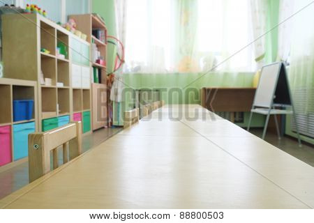 Training class in kindergarten
