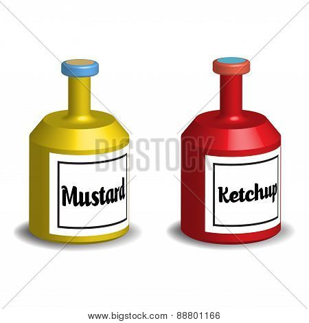 Mustard and ketchup