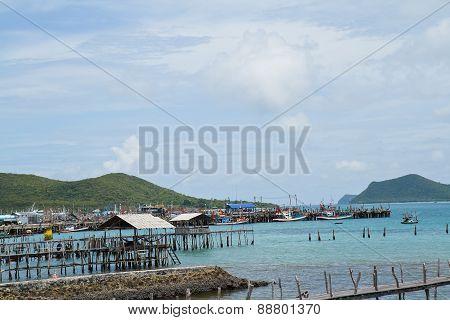 Fishing Village Bang Saray Pattaya Thailand.
