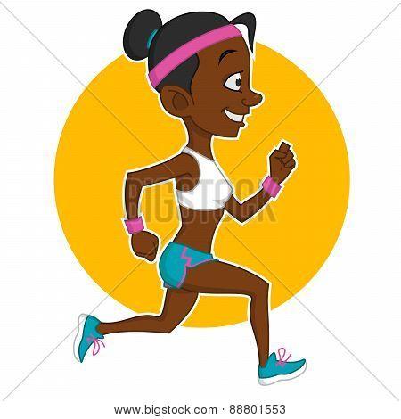 running girl.