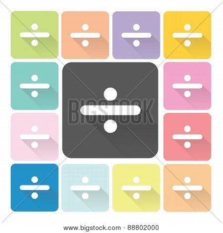 Division Icon Color Set Vector Illustration