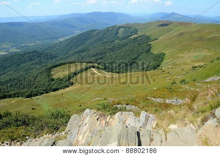 Mountains in Poland (Bieszczady)
