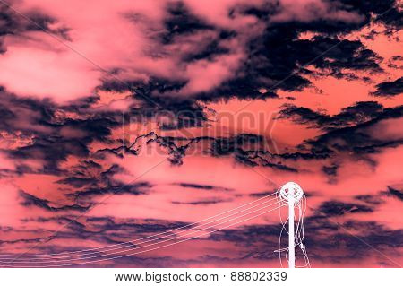 Abstract Electric Cable Withe The Cloudy