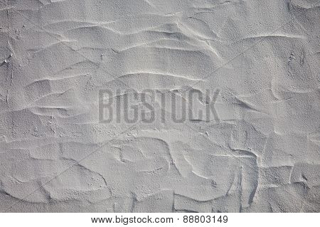 Wall Painted With White Lime - White Background