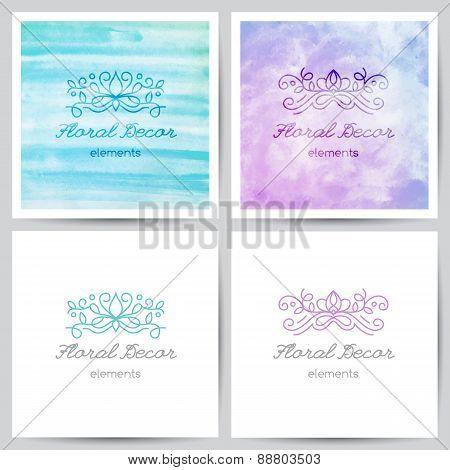 floral logo set