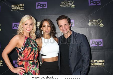 LOS ANGELES - April 21:  Jessica Collins, Christel Khalil, Christian LeBlanc at the  2015 Daytime EMMY Awards Kick-off Party at the Hollywood Museum on April 21, 2015 in Hollywood, CA