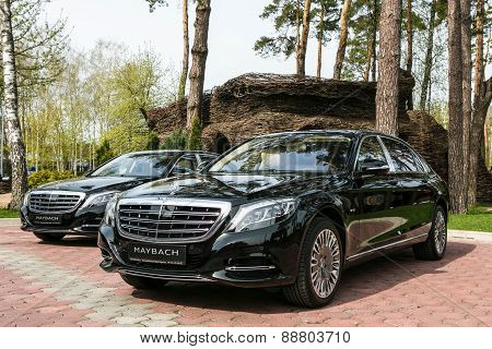 Ukraine, Kiev - April 23, 2015: Mercedes-Maybach S 600 2015 Test Drive